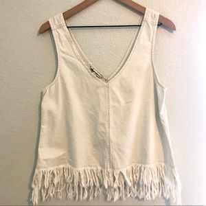 American Eagle Tank with frayed detailing